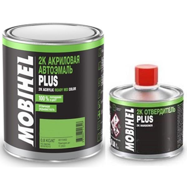 Автоэмаль 2К 6:1 акриловая 110 Рубин Mobihel двухкомпонентная 0,8 кг + отвердитель 2К PLUS 0,14 кг by Mobihel color Рубин