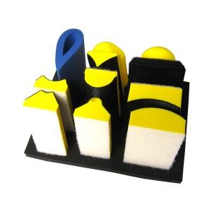 Набор платформ для ручного шлифования, 9 предметов
