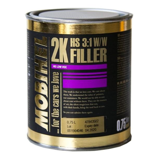 2K HS вторичная грунтовка 3:1 W/W (глянцевая) - серая Mobihel, 0,75л + отвердитель 700 0,25 л by Mobihel