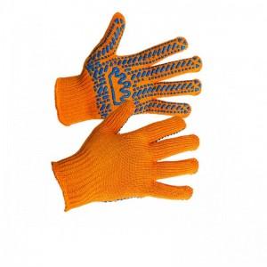 """Перчатки """"Корона"""" оранжевые 5612"""