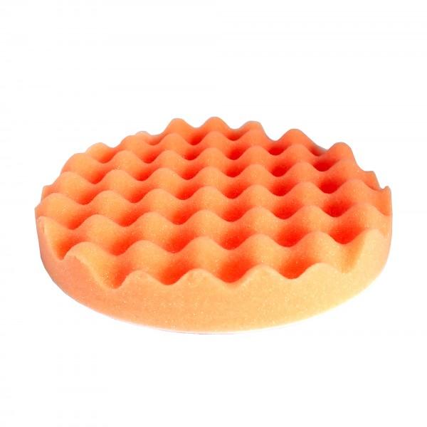 Круг полировальный 80x25мм, волнистый, оранжевый, на липучке