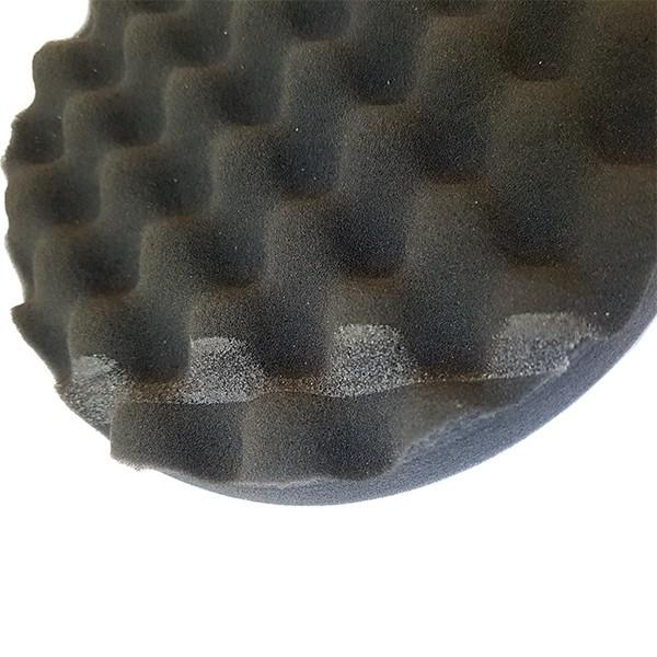 Круг полировальный 150x25мм волнистый черный WaveFinish мягкий на липучке (УЦЕНКА) by Нет