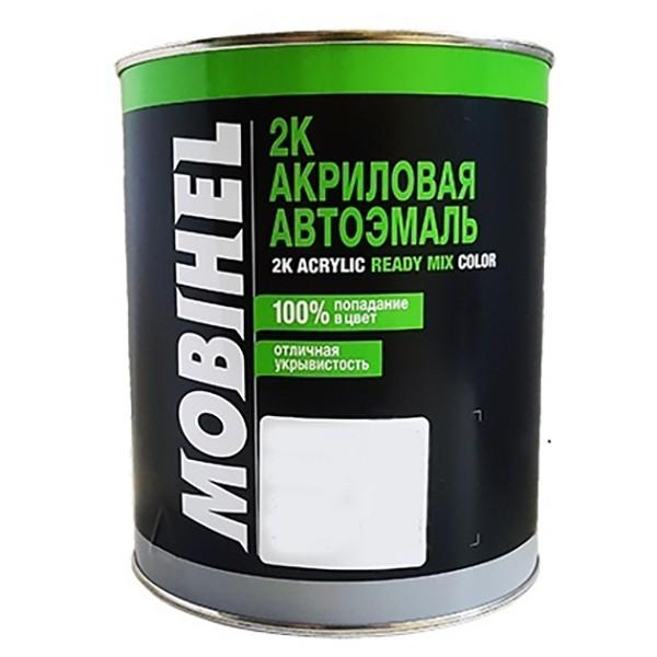 Автоэмаль 2К акриловая 601 Глубоко-черная Mobihel двухкомпонентная by Mobihel color Глубоко-черная