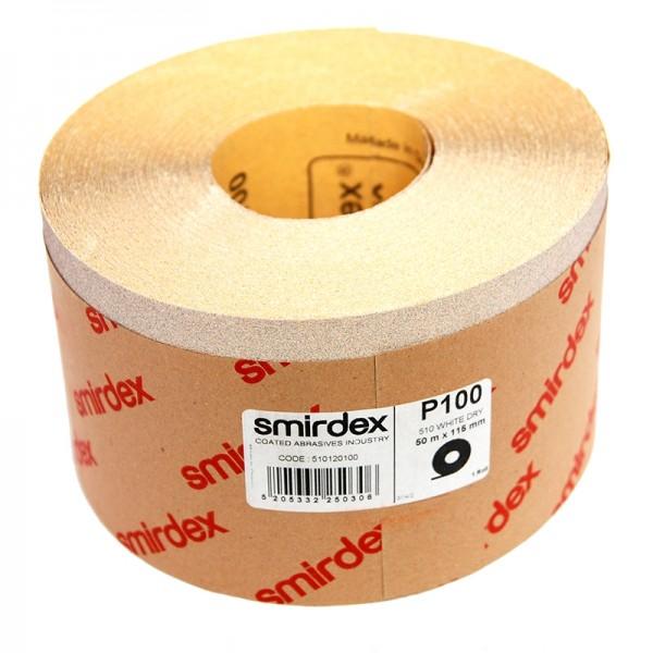 Наждачная бумага Smirdex 510 White Line рулон белый 116ммх25м (50 м) by Smirdex