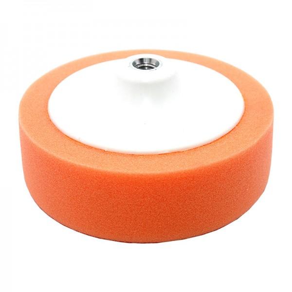 Круг полировальный 150x50мм, оранжевый, M14, жесткий, на платформе