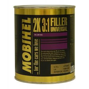 2K вторичная грунтовка 3:1 Универсальная - серая Mobihel, 0,75л + отвердитель 700 0,25л