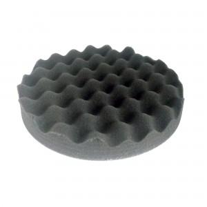 Круг полировальный 180x25мм волнистый, черный, мягкий, на липучке