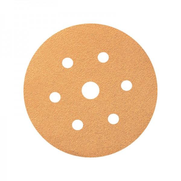 Абразивный шлифовальный диск 3W, диаметр 150 мм, 7 отверстий