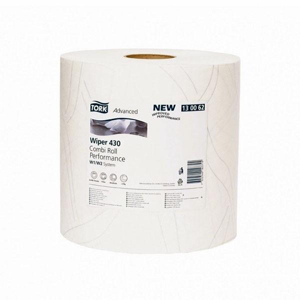 Tork протирочная бумага (салфетка) в рулоне 430, 500 листов, супер мягкие, 34*23,5 см, белая by Нет