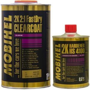 2K HS 2:1 акриловый лак FastDry low VOC Mobihel + отвердитель 4100 (комплект)