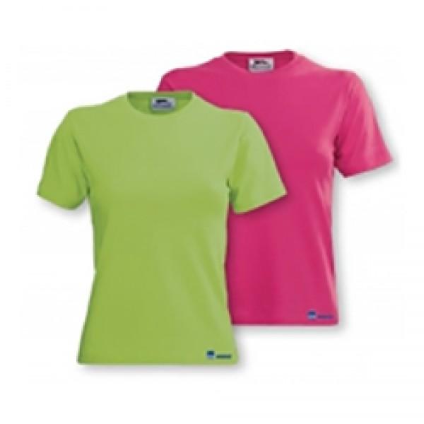 Футболка женская MOBIHEL (розовая, зеленая) с эластаном.