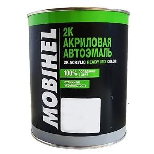 Автоэмаль 2К акриловая ГАЗ Белая (GAZ) Mobihel двухкомпонентная