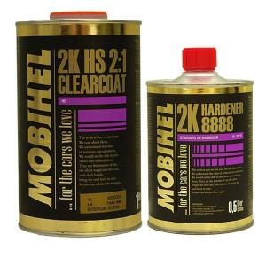 2K 2:1 HS акриловый лак Mobihel + отвердитель 8888 (Комплект)