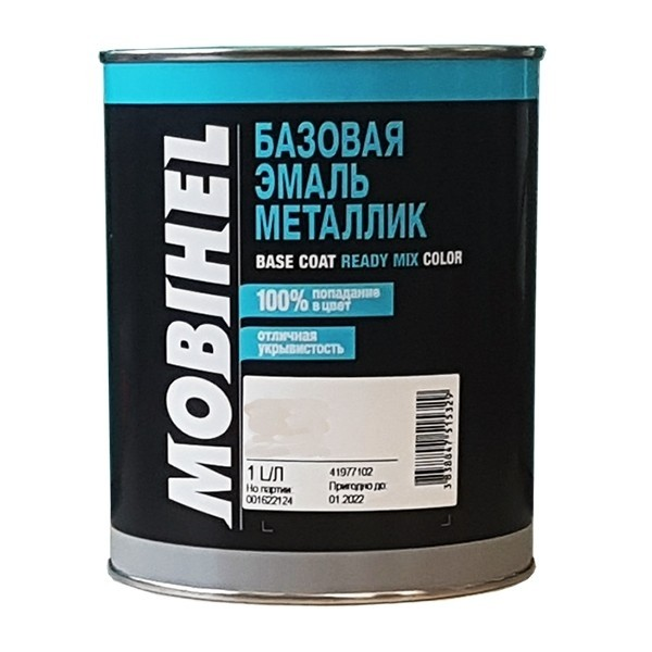 Автоэмаль металлик 301 Серебристая Ива Mobihel 1,0л by Mobihel color Серебристая ива