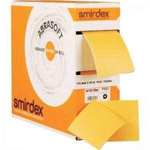 Абразивная губка Smirdex Abrasoft с перфорацией, рулон 25м